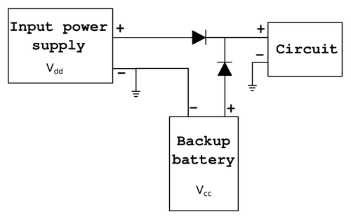 Two-diode power auto-select circuit